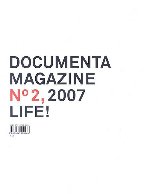 Documenta 12 Magazine No. 2 2007 By Schollhammer, Georg